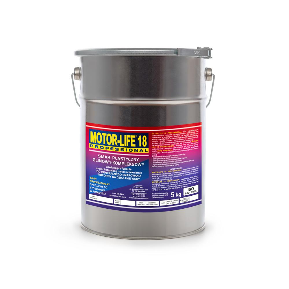 MLP 18 Smar plastyczny glinowy kompleksowy do centralnego smarowania odporny na działanie wody 5kg