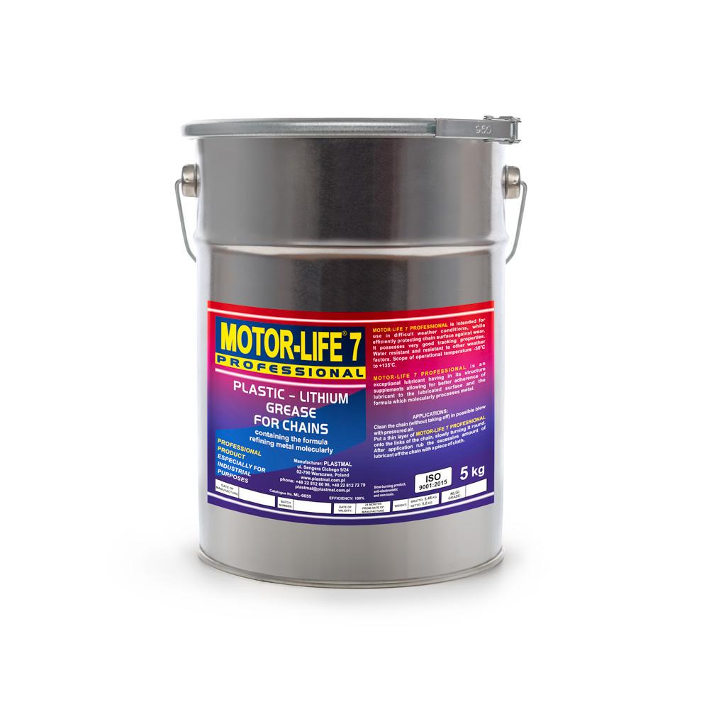 MLP 7 Smar-plastyczny litowy MoS2 do łańcuchów 5 kg